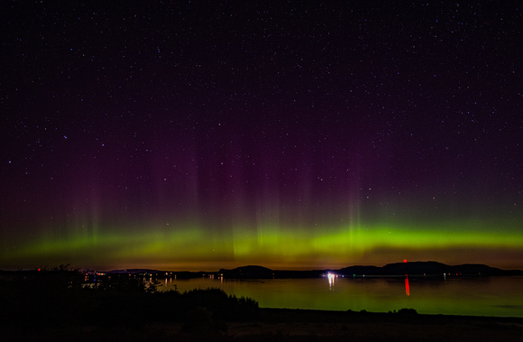 Northern Lights Over Griffin Bay and the San Juan Islands