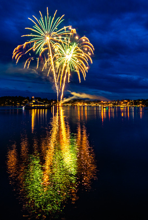 Friday Harbor Fireworks 2018
