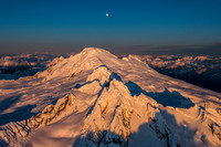 Mount Baker and the Full Worm Moon