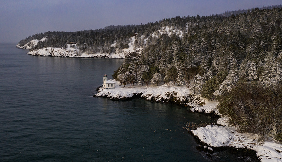 Lime Kiln Lighthouse Snow Day 2021
