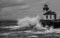 Stormy Weather at Lime Kiln Lighthouse