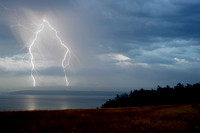 Lightning Strikes over Lopez Island