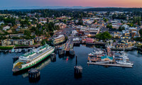Friday Harbor Twilight with Ferry