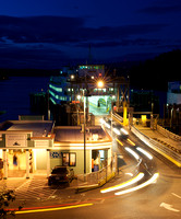 Friday Harbor Ferry Terminal Unloading at Night