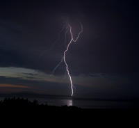 Lightning Strikes over the San Juan Islands