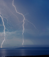 Lightning Striking the San Juan Islands