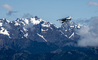 Whale Plane Above the Olympic Mountains