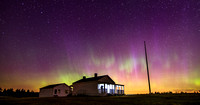Under the Northern Lights at General Pickett's House