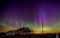 Northern Lights over General Pickett's House